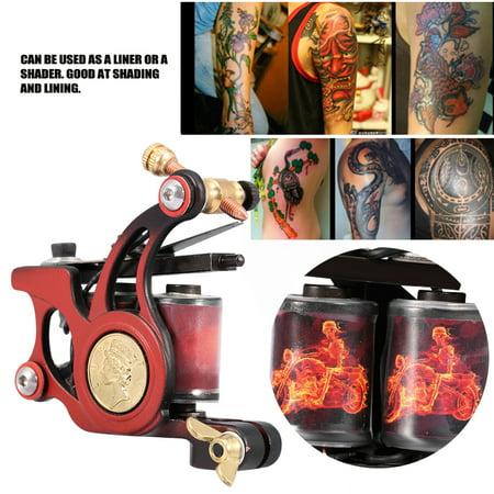Sonew Professional 10 Warp Coil Tattoo Machine Skull Fire Pattern Tattoo  Gun Shader Liner, Tattoo Iron Machine, Tattoo Liner Machine