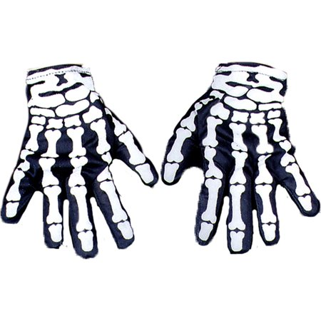 Morris Costumes Glove Skeleton Accessories & Makeup Not Glow One Size, Style BA26](Skeleton Makeup)