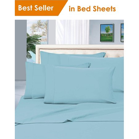 Elegant Comfort® 1500 Thread Count Egyptian Quality Microfiber Deep Pocket Bedroom Sheet Set, Twin Aqua Blue