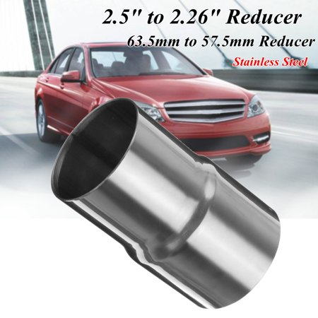 Universal Auto Car Stainless Steel Standard Exhaust Reducer Connector Cars Pipe Tube Multi Size Silver