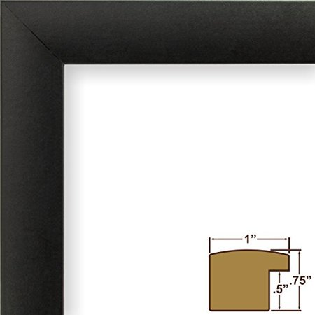 Craig Frames 1WB3BK 16 by 20-Inch Picture Frame, Smooth Wrap Finish, 1-Inch Wide, Black