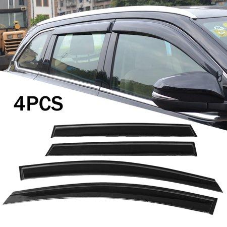 (For Ford Escape Side Window Vent Deflector Rain Guard Visor 2013-2018 Black 4pcs)