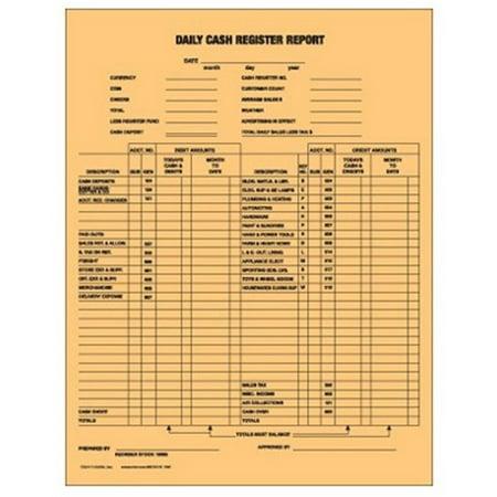 Centurion 100065 Daily Cash Register   50 Pack