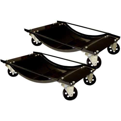 Black Bull 2-Piece Steel Car Dolly Set