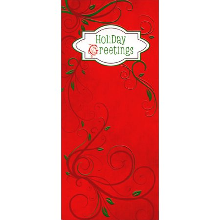 Designer Greetings Red Holiday Greetings and Vines 8 Christmas Money & Gift Card Holders ()
