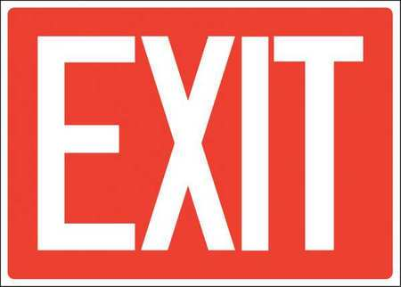ACCUFORM SIGNS 219098-7X10S Exit Sign, Adhsv Vinyl, 7x10 In., English by ACCUFORM