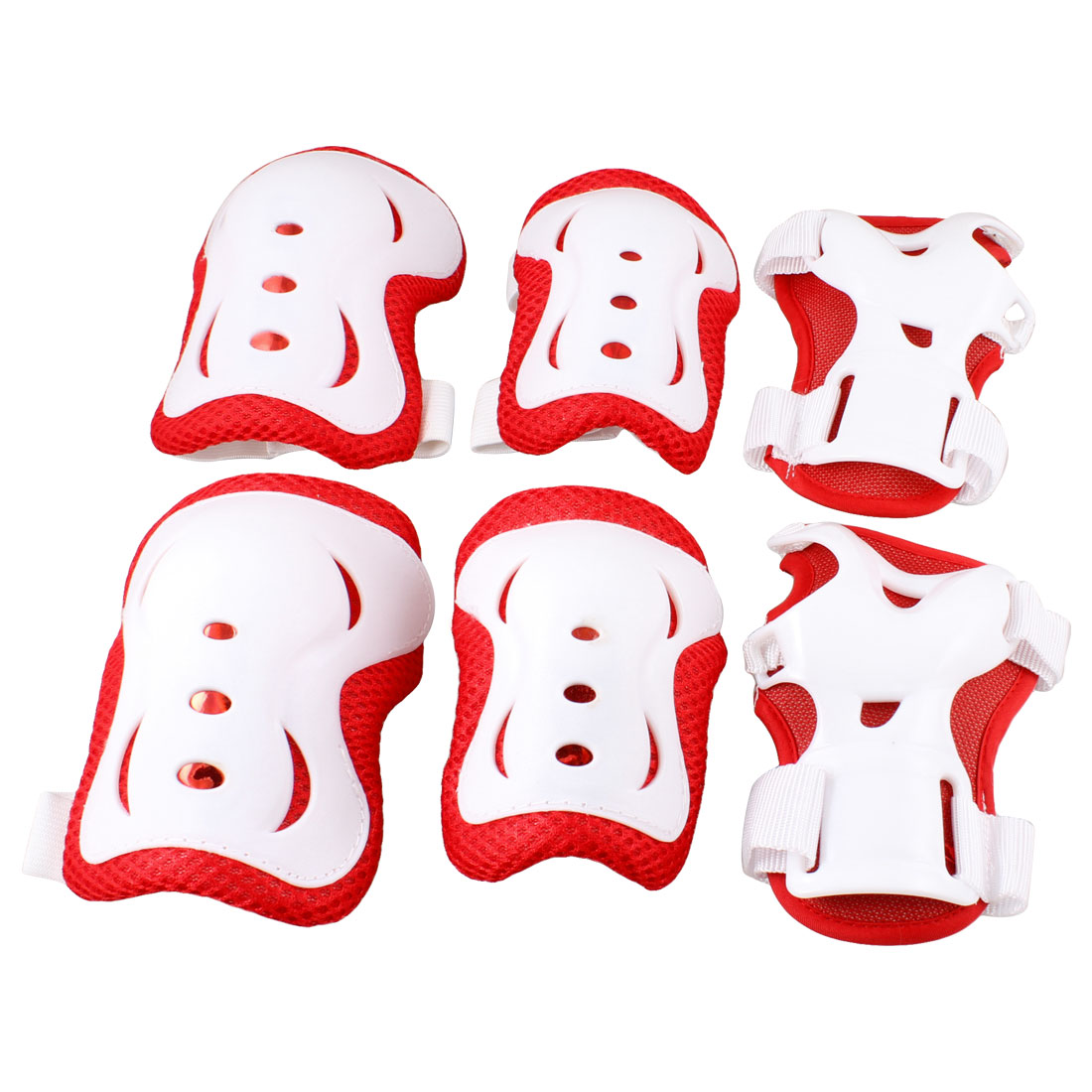 Unique Bargains 3 Pairs Skating Cycling Protective Gear Set Wrist Guard Elbow Knee Pads for
