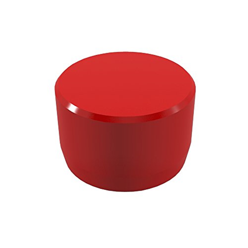 "FORMUFIT F034EEC-RD-10 PVC External End Cap, Furniture Grade, 3/4"" Size, Red , 10-Pack"