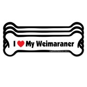 I Love My Weimaraner - Bone Car Magnet - 3 Pack