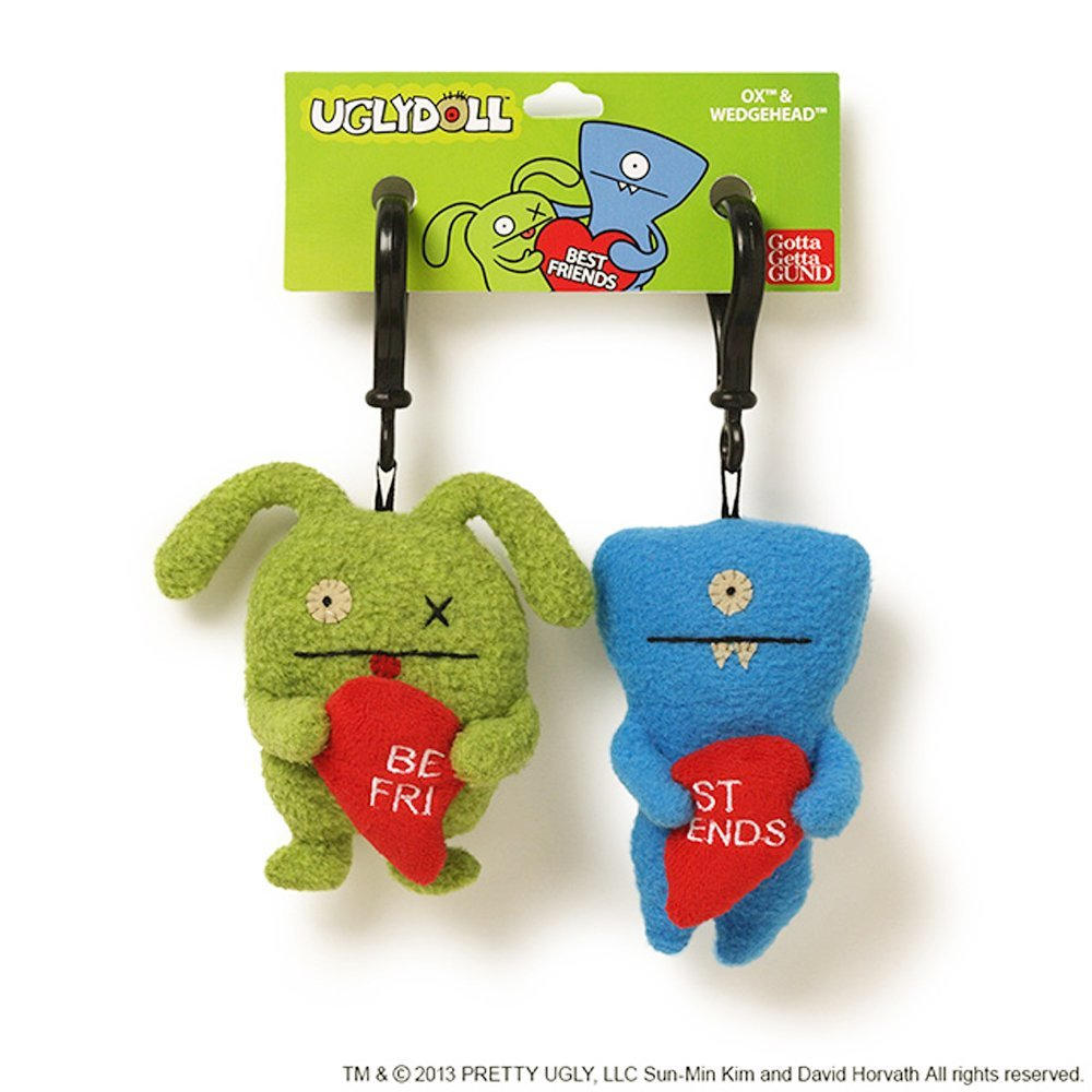 "Ugly Dolls 5"" Plush Clip-On: Best Friends Ox & Wedgehead"