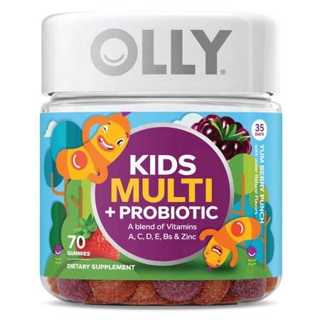 OLLY Kids Multi Vitamin Plus Probiotic Gummies Berry Flavor 70 Count