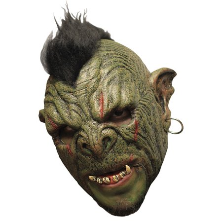 Morris costumes TB27543 Orc Mok Dlx Chinless Latex - Orc Costume