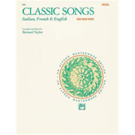 Alfred 00-3542 Classic Songs- Italian- French &