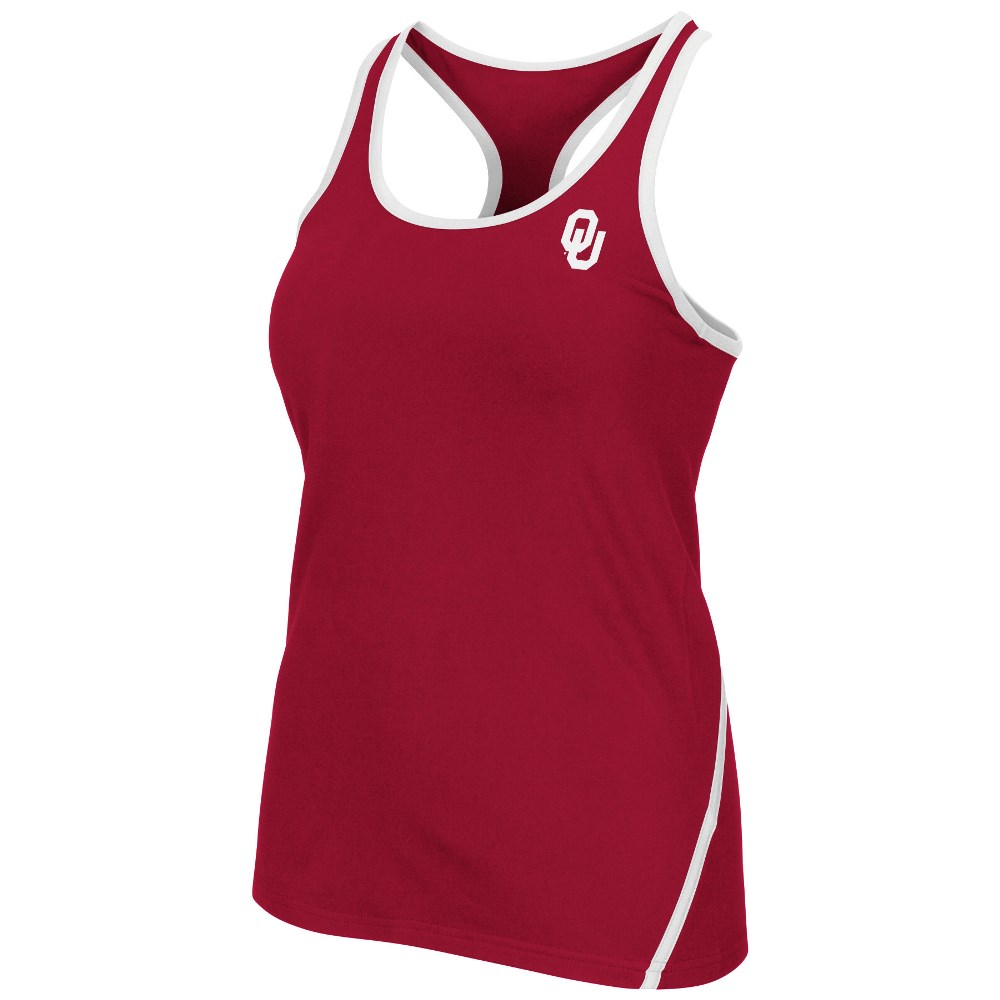 "Oklahoma Sooners Women's NCAA ""Rapid"" Performance Racer Back Tank Top by Colosseum"