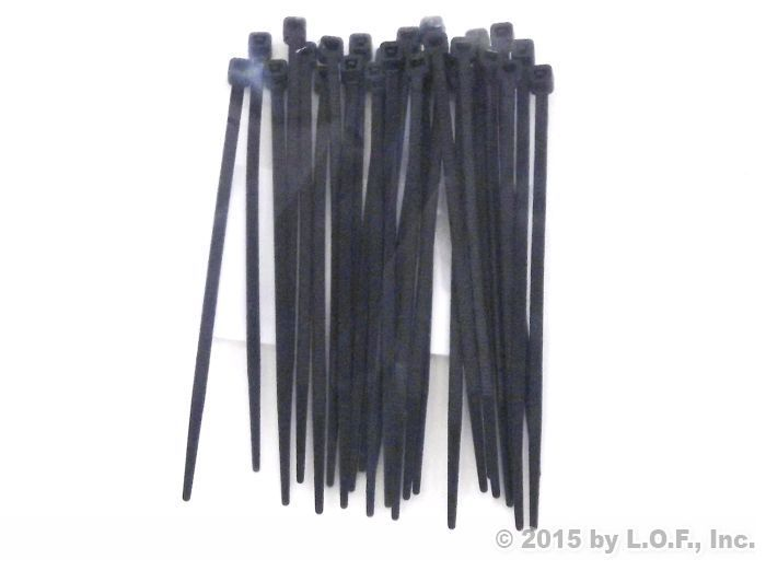25 CM LONG 5 MM WIDE FREE POST 100 PK HEAVY DUTY CABLE TIES BLACK NYLON