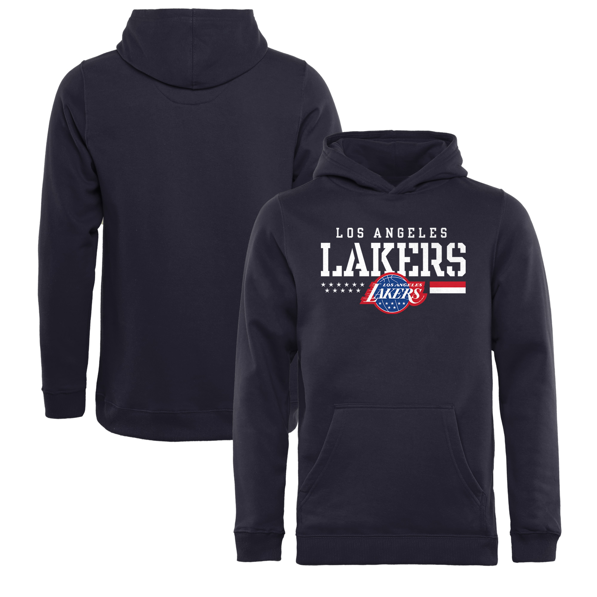 Los Angeles Lakers Fanatics Branded Youth Hoops For Troops Pullover Hoodie - Navy
