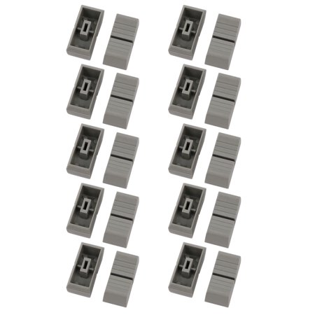 20pcs 11mm x 24mm x 10.8mm Plastic Slider Fader Knob Gray for - Fader Knob
