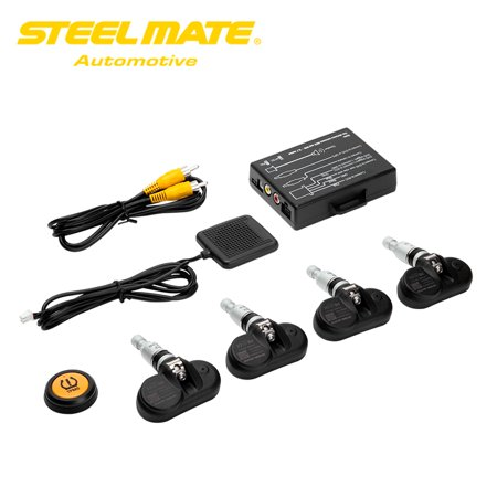 Pressure Button (Steelmate TP-05 Tire Pressure Monitoring System TPMS for in-dash A/V Monitor with Remote Button 4 Professional Internal Sensors)