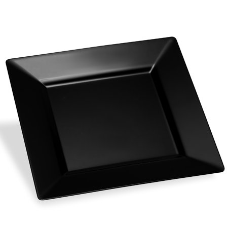Host & Porter Black Plastic Dinner Plates, 11