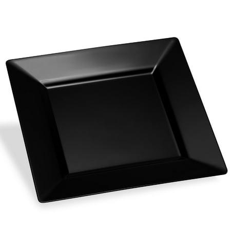 Host & Porter Black Plastic Dinner Plates, 11