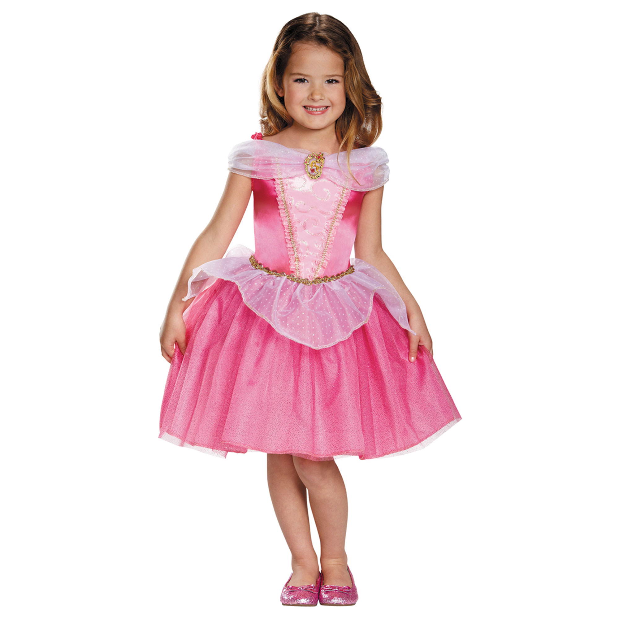 Disguise Aurora Classic Disney Princess Sleeping Beauty Costume, 4-6, Style DG98472L