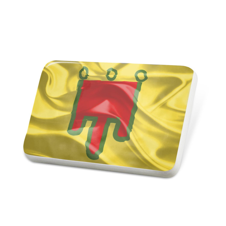 Porcelein Pin Auvergne 3D Flag region: France Lapel Badge – NEONBLOND