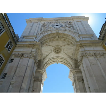 Peel-n-Stick Poster of Monument Lisbon City Centre Rua Augusta Arch Arch Poster 24x16 Adhesive Sticker Poster Print (Party City Augusta Ga)