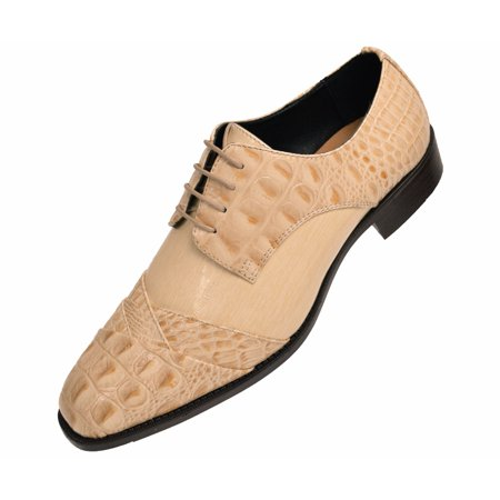 Wholesale Exotic Dancer Shoes (Bolano Mens Exotic Oxford Dress Shoes Your Choice of Crocodile Skin/EEL Skin/Lizard Skin Cap)