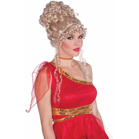 Adult Womens Blonde Renaissance Heavenly Goddess Medieval Maiden Costume Wig - Renaissance Goddess