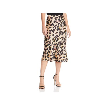 Cotton Candy Womens Animal Print A-Line Midi Skirt
