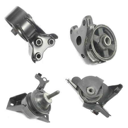 For: 2001-2006 Hyundai Elantra 2.0L Engine Motor & Trans Mount Set 4PCS for Auto Transmission 01 02 03 04 05 06 MK7116 MK7118 MK7128 MK7101 M305 (Performance Polyurethane Transmission Mount)