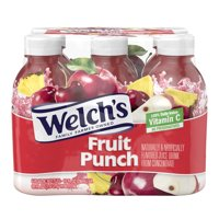 (2 pack) Welch's Juice, Fruit Punch, 10 Fl Oz, 6 Count