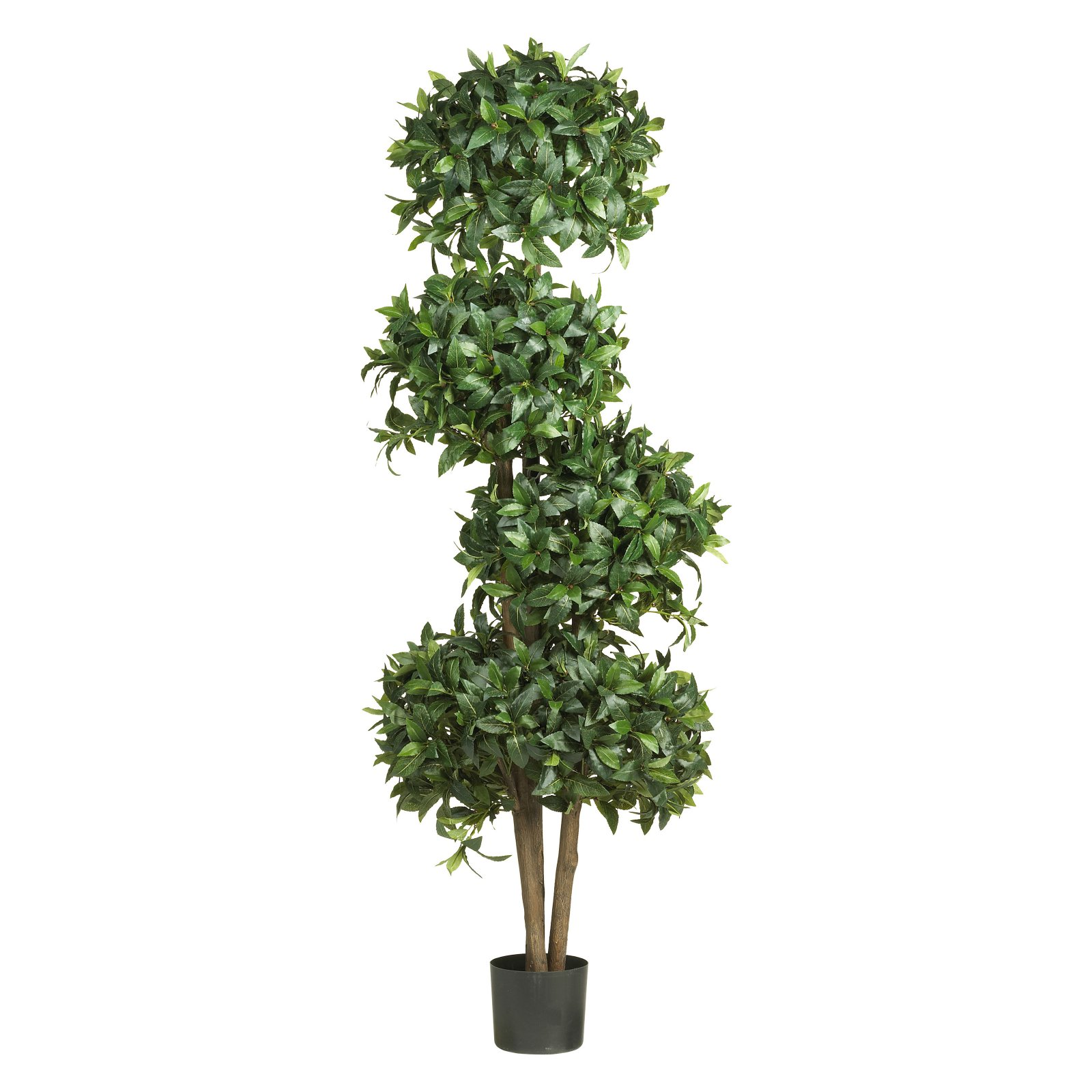 Sweet Bay Topiary Silk Tree with 4 Balls