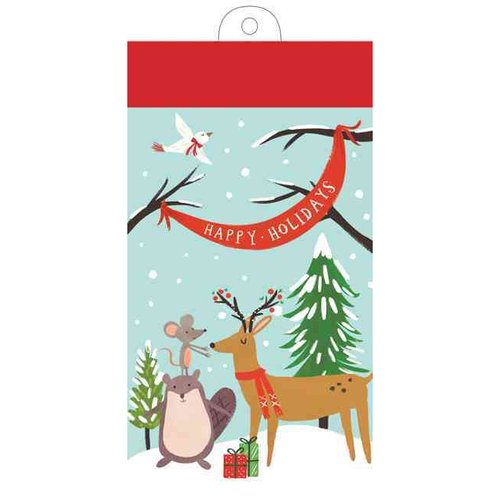 Holiday Forest Friends List Pad