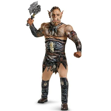 Warcraft Durotan Deluxe Muscle Men's Adult Halloween Costume, - Warcraft Halloween