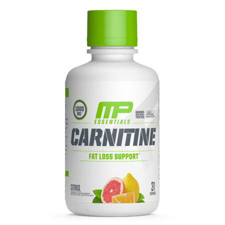 MusclePharm Essentials Liquid Carnitine, Citrus, 30
