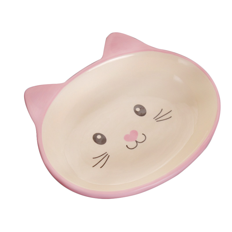 Pet Feeder Double Ceramic Bowls Dog Bowl and Cat Bowl for ...