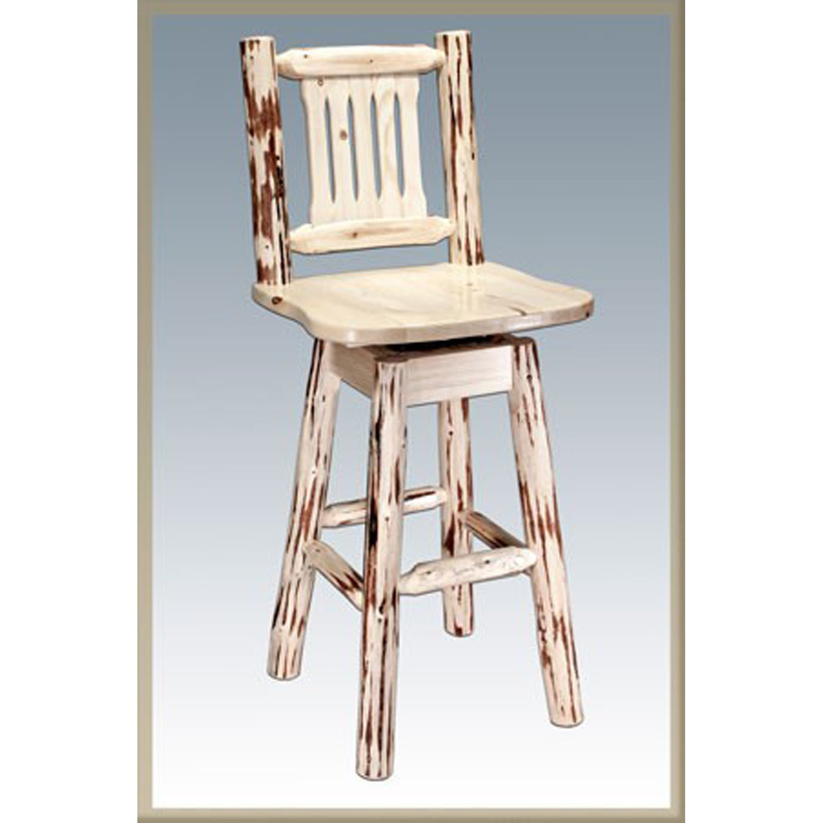 Montana Woodworks 30 in. Montana Swivel Barstool