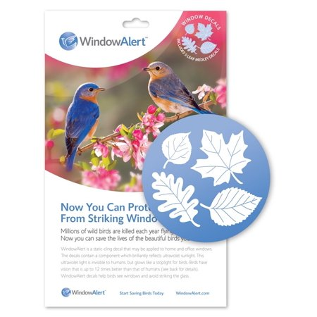 Window Alert Bird - Window Alert Leaf Medley Decal (5 Per Package)