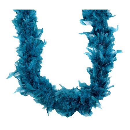 Costume Accessories Touch of Nature Chandelle Teal Turkey Feathered Boa](Homemade Mother Nature Costume)
