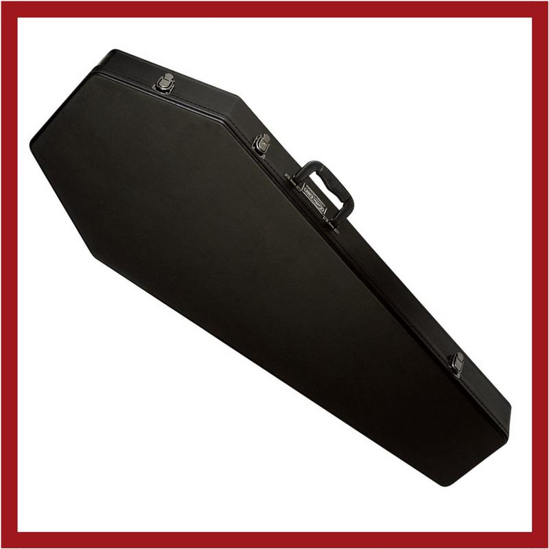 COFFIN CASES Model G185BK Elecrtic Guitar Case Black Interior