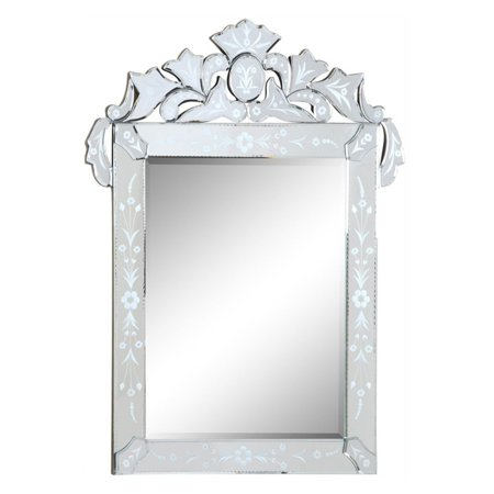 Elegant Furniture ; Lighting Venetian Wall Mirror - 27.6W x 35.8H in.