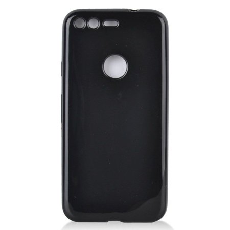 Google Pixel Case, by Insten TPU Rubber Candy Skin Case Cover for Google Pixel, Black - image 3 de 3