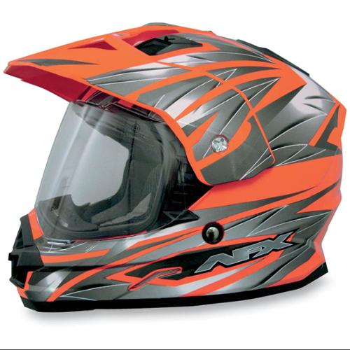 AFX FX-39DS Dual Sport Strike Full-face Street Helmet Safety Orange