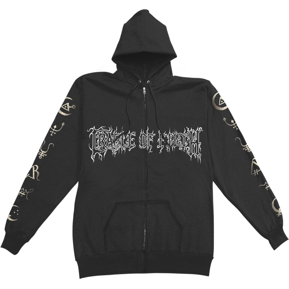 Cradle Of Filth Men's  Hammer Of The Witches Zippered Hooded Sweatshirt Black
