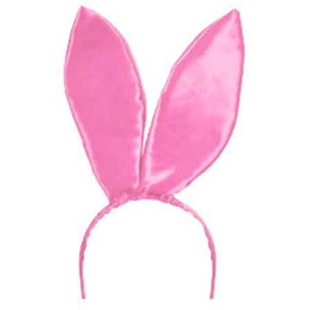 New  Light Pink Satin Bunny Ears Adult Playboy Costume - Playboy Bunny Accessories