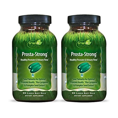 Irwin Naturals Prosta-Strong - Prostate Health Support with Saw Palmetto, Lycopene, Pumpkin Seed & More - 90 Liquid Softgels (Pack of 2)