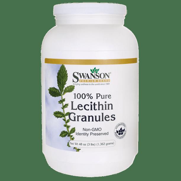 Swanson 100 Pure Non Gmo Lecithin Granules 48 Oz Walmart Com