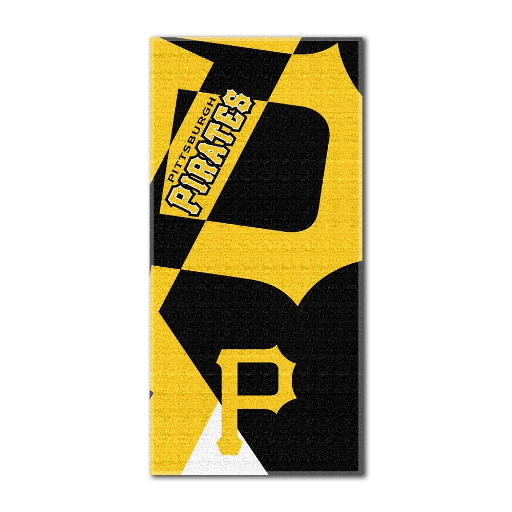 Pittsburgh Pirates MLB Puzzle Series 34X72 Cotton Blend Beach Towel