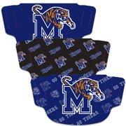 Memphis Tigers WinCraft Adult Face Covering 3-Pack